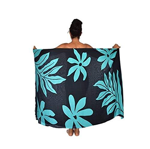 UK_Stone Damen Kokospalme Blätter Blumen Sarong Pareo Strandtuch Wickelrock Wickeltuch Bikini Sonnenschutz Decke Cover-up