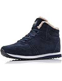 CCZZ Herren Damen Schneestiefel Warm gefütterte Sneaker Winter Stiefel Outdoor Freizeit Schuhe 35-47