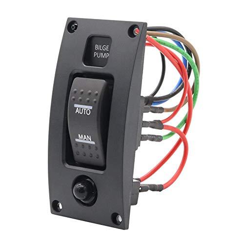Deasengmint Encendido-Apagado-Encendido Bomba de agua de fondo Panel de interruptores Luz de...