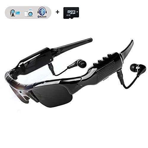 WOTUMEO Multifuncionales Gafas Sol Bluetooth HD 1080P