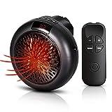 KEYS Mini Heater, Ceramic Fan Heater 1000 W Portable Electric Fan Heater with Adjustable Temperature for Home/Office/Bedroom, Black