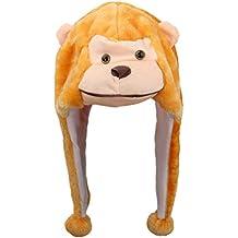 V-SOL Sombrero Gorro Disfraz Cosplay De Animal Adulto Niños Felpa Cubierta De Oreja Orejera (Mono)