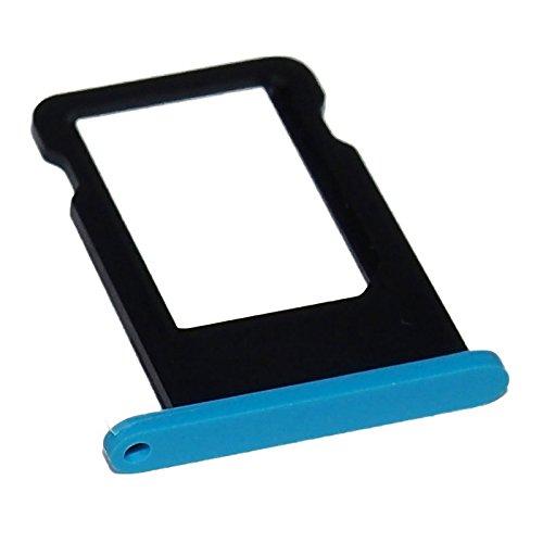 smartec24® Simkartenadapter für ein iPhone 5C in blau inkl. 1x Simnadel. 100% passgenauer, farbgetreuer und kompatibler Simkartenhalter (blau)