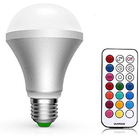 Quarice®Led Bombilla E27 10W 13 Colores cambiantes por Mando a distancia Luz Decorativa / Uso Diario Bluetooth Mando a distancia-Blanco frío