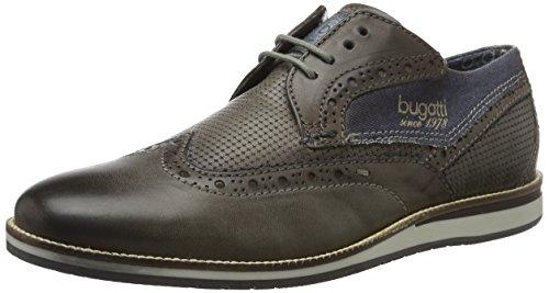 Bugatti 311256013069, Scarpe Stringate Uomo Marrone (Taupe/Dark Blue 1441)