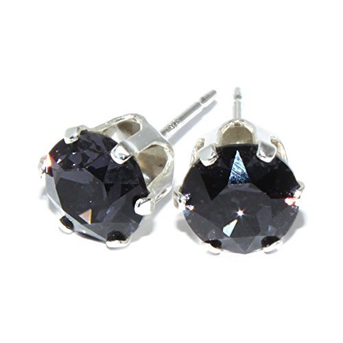 925-sterling-silver-round-stud-earrings-with-swarovski-xirius-crystal-graphite-6mm