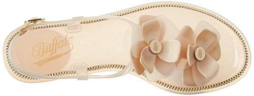Buffalo Damen Pth-0020 PVC Zehentrenner Beige (Nude 01)