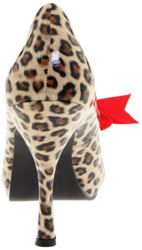 Pleaser PinUp Couture CUTIEPIE-06 Damen Pumps Tan Pu (Cheetah Print)
