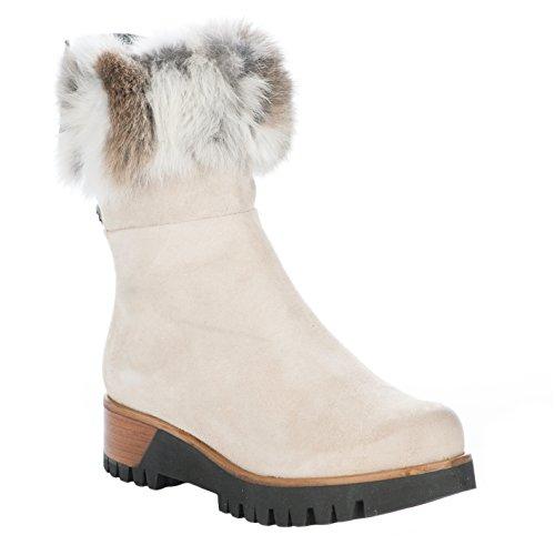 Boots femme - MANAS - Blanc creme - 2204 E1X - Millim Blanc