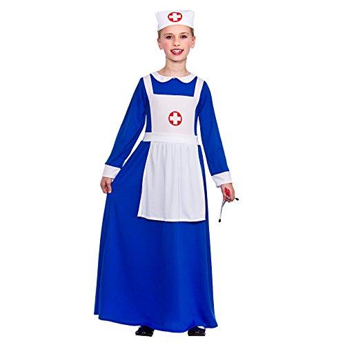 GIRLS BLUE WARTIME NURSE FANCY DRESS (Dress Kostüme Fancy Nurse)