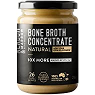 Meadow & Marrow Beef Bone Broth Concentrate - Natural 260 Grams - Australian Grass Fed Beef - 10 X More Amino Acids/G* Free from Gluten, Diary, Nuts & Soy