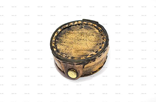 Sailor 's Art nicht alle, die Wander Are Lost New Zitat Kompass mit Prägung Leder Fall Antique Home Décor Artikel, ideal Geschenke