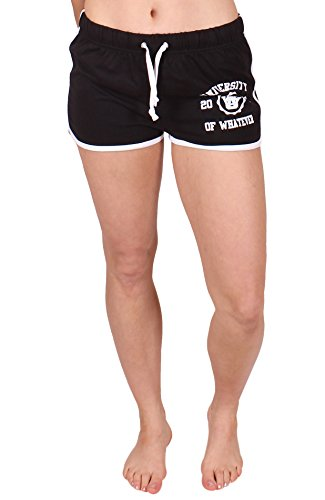 University of Whatever Damen Retro Shorts Schwarz DE 36-38 sk69 (Abercrombie Hose & Fitch)