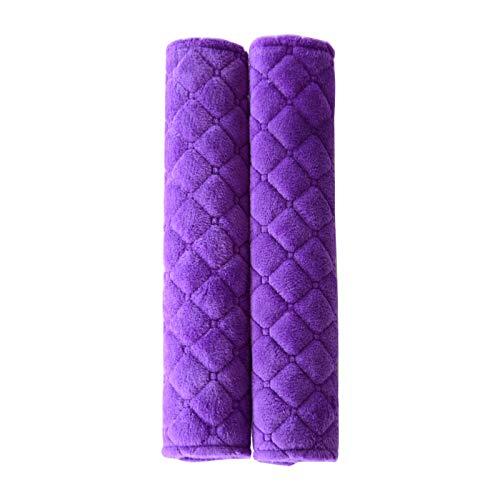 Auto Ceinture de Sécurité Épaulette Protection Confortable Peluche de Cristal Pads Antidérapant Durable Pad de Sécurité, Violett 27 * 6.5cm (Auto-zubehör Kundenspezifische)