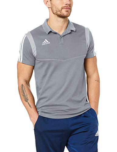 adidas Herren TIRO19 CO Polo Shirt, Grey/White, L