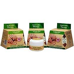 Vaadi Herbals Foot Cream, Clove and Sandal Oil, 30gms x 3