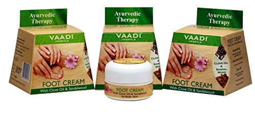Vaadi Herbals Foot Cream, Clove and Sandal Oil, 30gms x 3