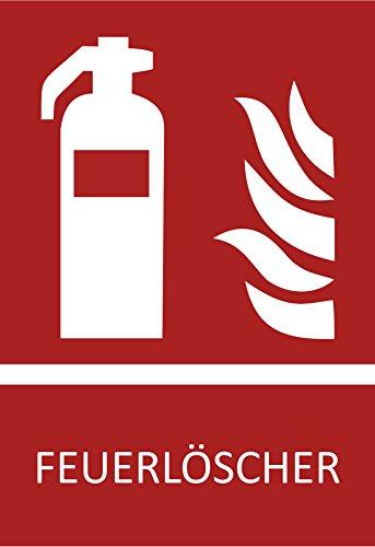5 Feuerlöscher Aufkleber Symbol,10,5 x 14,8 cm Brandschutzzeichen, Schild (Wetterfest),...