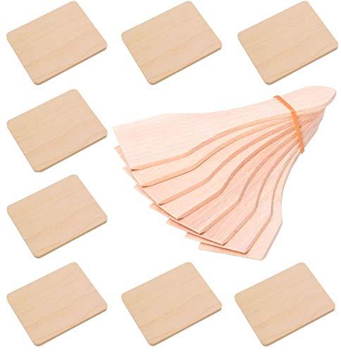 iapyx Raclette Zubehör Spachtel Schaber und Untersetzer Brettchen aus Holz für Raclette Pfännchen (8, Schieber und Brettchen)