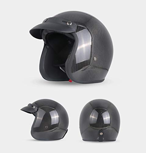 PURROMM Low Profile novità Harley Half Helmet- Chopper Motorcycle Half Helmet Open cap Flat Matte Black DOT/ECE Approved,XXL