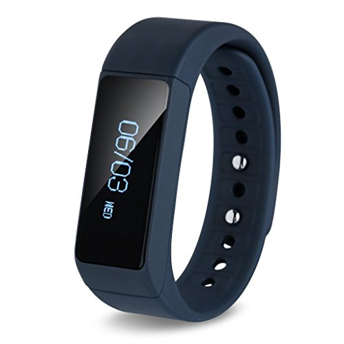 FOTOWELT I5 + Intelligente Braccialetto Bluetooth Sport Fitness Pedometro Tracker Tracker Wireless Activity con Calorie di Monitoraggio DellaPista Passi Contatore di Sonno per Sport Fitness-Marina Militare