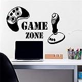 90 x 58 cm Game Zone Wandaufkleber Vinyl Aufkleber Gamecontroller Gamer Joystick Playstation Boy Kindergarten Kinderspielzimmer Wandtattoos