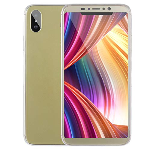 Smartphone Quad-Core 5,8 Zoll 1 GB + 8 GB Dual-SIM-Kamera Smartphone Android 5.1 Mobile PhoneEU (Gold)