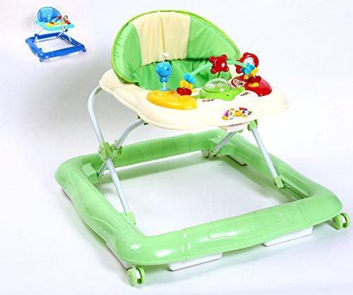 Kidmeister Gehfrei Baby Walker Lauflernhilfe mit Musik Spielstation, (Grün) Bestseller Nummer 1