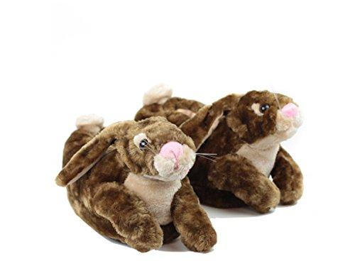 Sleeper'z Pantofole Animali Coniglio - Adulto e bambino Marrone