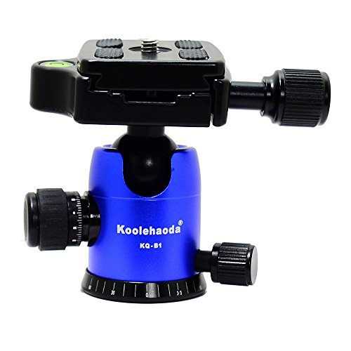Koolehaoda Nueva Cabeza de bola para trípode (Proceso CNC Forja) Carga: 10 kg (KQ-B1 azul)