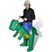HAPPY & HOME traje inflable del partido de Halloween Traje inflable del dinosaurio de los adultos