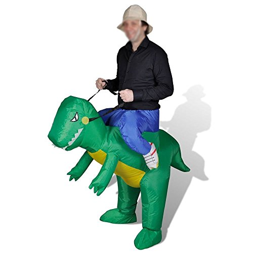 HAPPY & HOME Inflatable Halloween Party Suit Adults Inflatable Dinosaur Costume (Halloween Inflatables)
