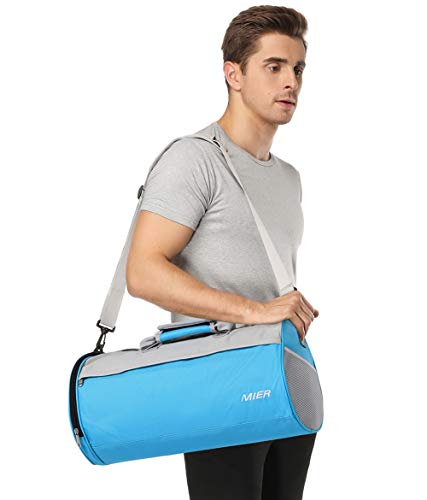1e6cf023fefd63 MIER Small Gym Bag with Shoe Compartment Barrel Sports Duffel Bag for Men,  Women,