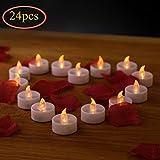 LED Kerzen, Flameless Kerzen, 24pcs LED Teelichter, elektrische Kerze Lichter Batterie Weihnachtskerzen Dekoration für Hochzeit, Valentines, Ostern, Weihnachts, Halloween, Geburtstags, Party