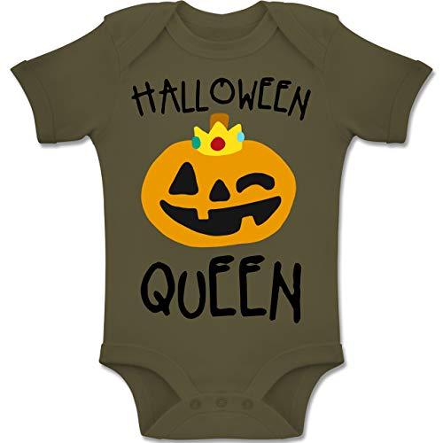 Shirtracer Anlässe Baby - Halloween Queen Kostüm - 6-12 Monate - Olivgrün - BZ10 - Baby Body Kurzarm Jungen Mädchen