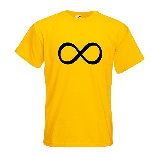 KIWISTAR - Unendlichzeichen T-Shirt in 15 verschiedenen Farben - Herren Funshirt bedruckt Design Sprüche Spruch Motive Oberteil Baumwolle Print Größe S M L XL XXL Gelb