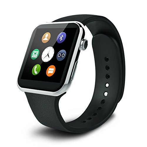 JIKRA Certified Bluetooth Smart Watch GT08 Compatible With All Smartphones and Mobile Devices Wrist Watch Phone with Camera & SIM Card Support Hot Fashion New Arrival Best Selling Premium Quality Lowest Price with Apps like Facebook , Whatsapp , QQ , WeChat, Twitter , Time Schedule , Sports, Health , Pedometer, Sedentary Remind & Sleep Monitoring , Better Display , Loud Speaker , Microphone , Touch Screen , Multi-Language , Compatible with Android iOS Mobile Tablet PC iPhone-SILVER