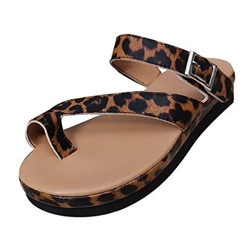 Damen Sandalen, ODRD Frauen Schuhe Shoes Bequeme Plattform-Sandelholze Leopard-Sommer-Spielraum-Schuh-Art- und Weisestrandsandelholze Beach Hausschuhe Slipper Pumps Zehentrenner Sport - Qupid Frauen-plattform Sandalen Für