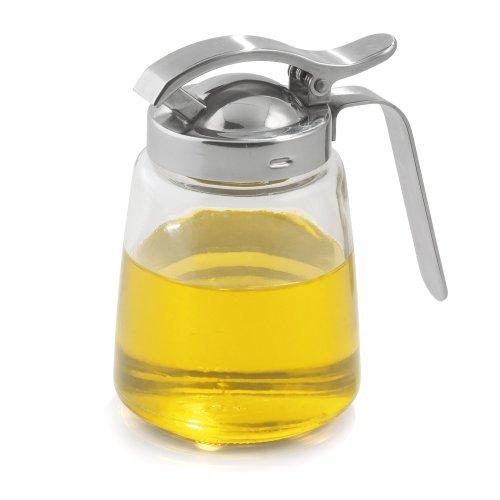 Weis 15054 Honigspender Glas, Edelstahl