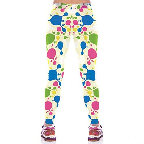 Belsen Damen Leggings mehrfarbig tiger M Watercolor