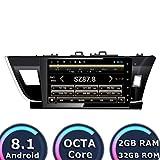 ROADYAKO Android 8.1 Auto Navigation für Toyota Corolla 2014 2015 2016 Auto Stereo Radio GPS 32 GB ROM 2 GB RAM WiFi 3G RDS Spiegel Link FM AM Bluetooth Audio Video
