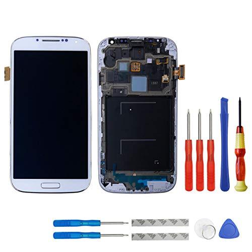 swark Super AMOLED Display für Samsung Galaxy S4 (SIV) SGH- I337 (at&T)/SGH-M919 (T-Mobile) Rahmen Weiß + Werkzeug Opening Tools