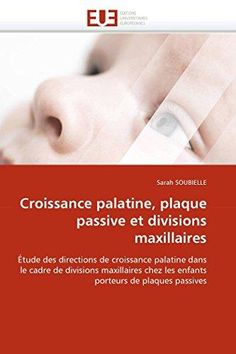 Croissance palatine, plaque passive et divisions maxillaires