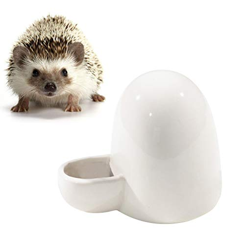 Baluue Automatische Haustier-Wasserflasche Wasserspender für Kleintiere Keramik-Wasserspender für Vogel-Igel-Hamster-Katzenfutter-Schüssel