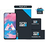 SupCares Premium Tempered Glass Screen Protector for Samsung Galaxy M30 with Easy Installation Kit (Transparent) [Pack of 2]