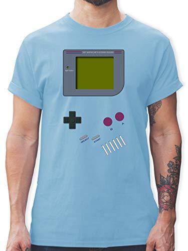 Nerds & Geeks - Gameboy - L - Hellblau - L190 - Herren T-Shirt und Männer Tshirt -