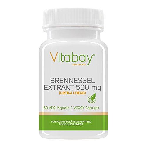 Brennessel - 500 mg - 60 Vegi Kapseln - 500 Mg 60 Vegi-kapseln