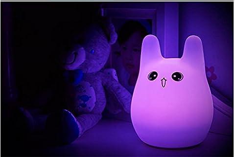GJY LED ÉCLAIRAGELumières De Capteurs Tactiles Chinchillas De Bande Dessinée De Lumière Ambiante , Purple,purple