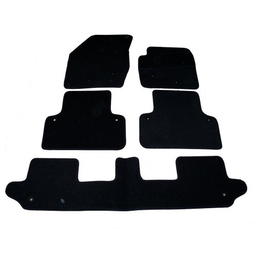 sakura-mat-set-includes-black-carpet-with-rubber-heel-pad-for-volvo-xc90-with-clips-5-pieces