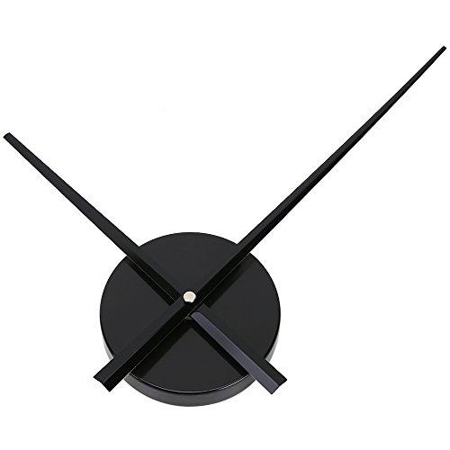 Uniquebella Pendule Murale 2 Grandes Aiguilles Horloge à Quartz Mécanisme Sans Cadran-S, Noir